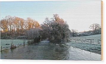 Cold  Wood Print by Karen Grist