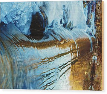 Cold Meets Warm Wood Print by Sharon Costa
