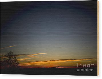 Cold Morning Sunrise Wood Print by Michael Waters
