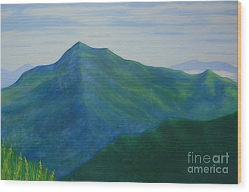 Wood Print featuring the painting Cold Mountain by Stacy C Bottoms