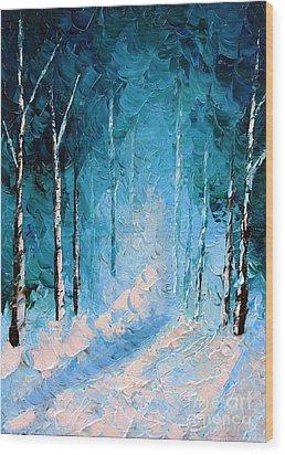 Cold Question Wood Print by Steven Lebron Langston