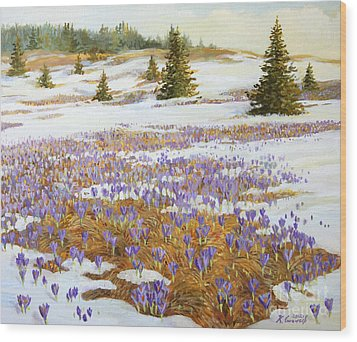 Cold Weather Is Going Away Wood Print by Kiril Stanchev