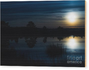 Wood Print featuring the photograph Cold Winter Morning by Angela DeFrias