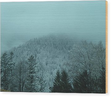 Cold Winter Romania Wood Print by Andreea Alecu