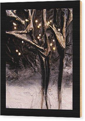 Cold Winter's Night Wood Print