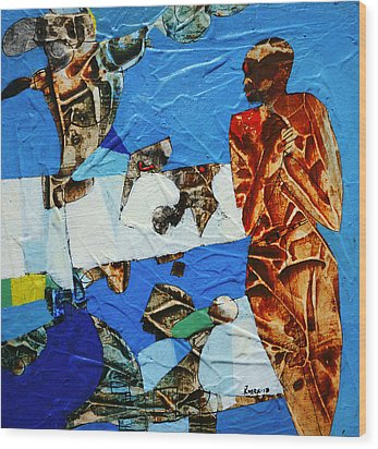 Colder This Month Wood Print by Ronex Ahimbisibwe