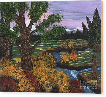 Coldest Mountain Brook Wood Print by Barbara Griffin