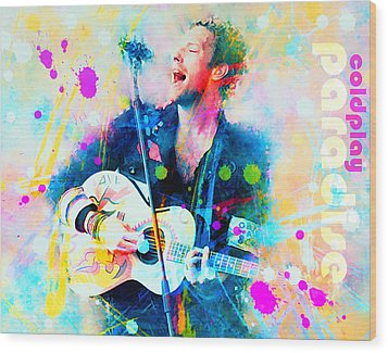 Coldplay Paradise Wood Print by Rosalina Atanasova