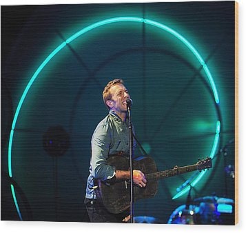 Coldplay Wood Print by Rafa Rivas
