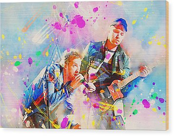 Coldplay Wood Print by Rosalina Atanasova