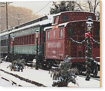 Colebrookdale Railroad In Winter Wood Print