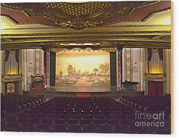 Wood Print featuring the photograph Coleman Theatre by Utopia Concepts