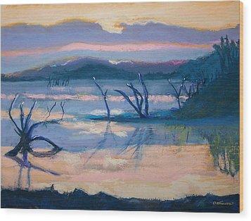 Coletta Lake Wood Print by Charles Krause