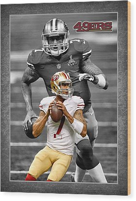 Colin Kaepernick 49ers Wood Print by Joe Hamilton