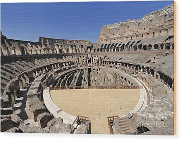 Coliseum . Rome Wood Print by Bernard Jaubert