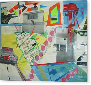 Collage 444 Wood Print by Bruce Stanfield