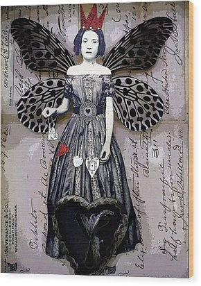 Collector Of Hearts Wood Print by Stephanie Rubiano