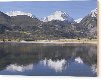 Wood Print featuring the photograph Collegiate Peaks Reflected by Harold Rau
