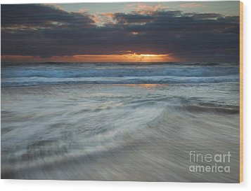 Colliding Tides Wood Print by Mike  Dawson