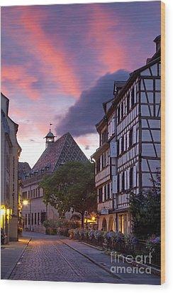 Colmar Twilight Wood Print by Brian Jannsen