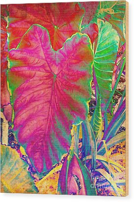 Colocasia Wood Print by Denise Tomasura