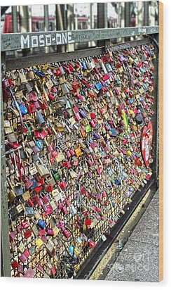 Cologne - Hohenzollern Bridge - Gypsy Locks - 02 Wood Print by Gregory Dyer