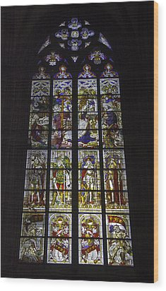Cologne Cathedral Stained Glass Window Of The Nativity Wood Print