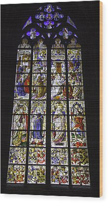 Cologne Cathedral Stained Glass Window Of The Three Holy Kings Wood Print