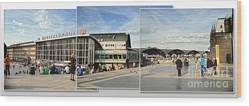 Cologne Central Train Station - Koln Hauptbahnhof - 01 Wood Print by Gregory Dyer