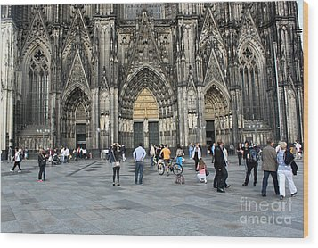 Cologne Germany - High Cathedral Of St. Peter - 17 Wood Print by Gregory Dyer