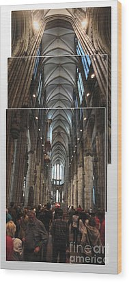 Cologne Germany - High Cathedral Of St. Peter - 01 Wood Print by Gregory Dyer