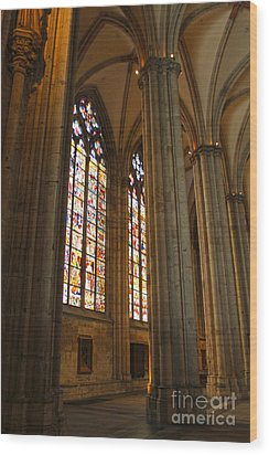 Cologne Germany - High Cathedral Of St. Peter - 02 Wood Print by Gregory Dyer