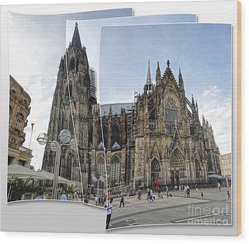 Cologne Germany - High Cathedral Of St. Peter - 03 Wood Print by Gregory Dyer