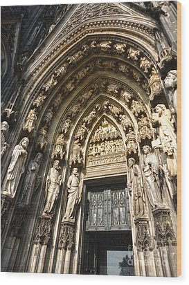 Cologne Germany - High Cathedral Of St. Peter - 05 Wood Print by Gregory Dyer