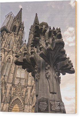 Cologne Germany - High Cathedral Of St. Peter - 08 Wood Print by Gregory Dyer