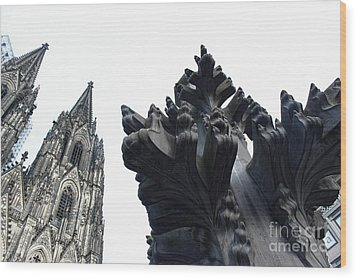 Cologne Germany - High Cathedral Of St. Peter - 09 Wood Print by Gregory Dyer