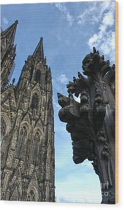 Cologne Germany - High Cathedral Of St. Peter - 13 Wood Print by Gregory Dyer