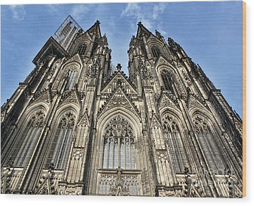 Cologne Germany - High Cathedral Of St. Peter - 16 Wood Print by Gregory Dyer