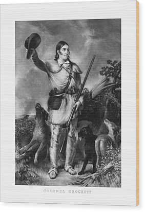 Colonel Davy Crockett Wood Print by War Is Hell Store