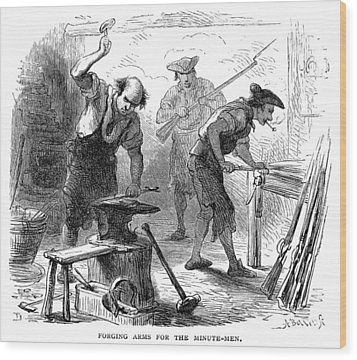 Colonial Blacksmith, 1776 Wood Print by Granger