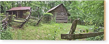Colonial Village Wood Print