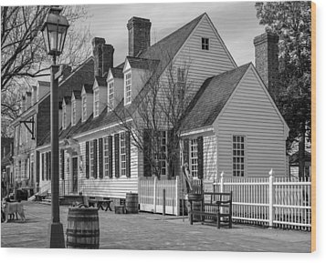 Wood Print featuring the photograph Colonial Williamsburg  by Trace Kittrell