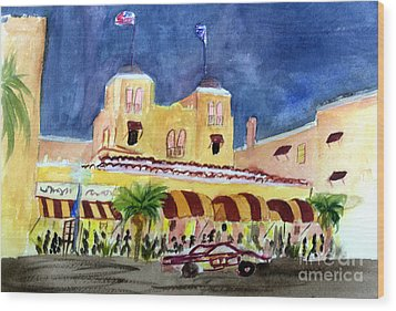Colony Hotel In Delray Beach Wood Print by Donna Walsh