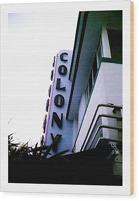 Colony Polaroid Wood Print by Gary Dean Mercer Clark