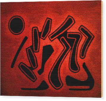 Color Abstraction 2 Wood Print by Dr Joseph Uphoff