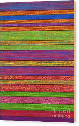 Color And Texture Wood Print by David K Small