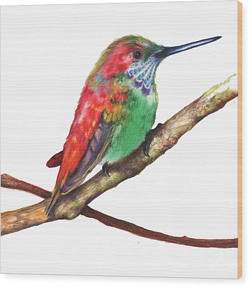 Color Bird 9 Wood Print by Anthony Burks Sr