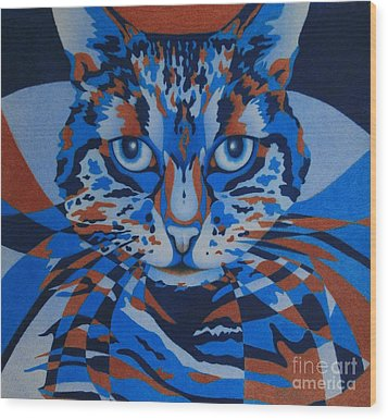 Color Cat IIi Wood Print by Pamela Clements