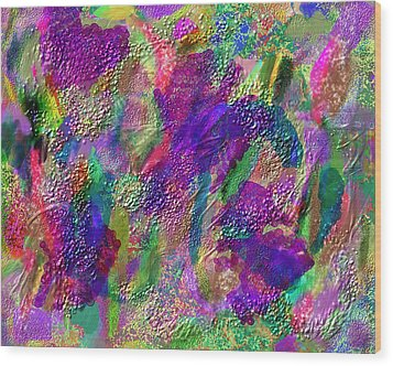 Color Dream Play Wood Print by Penny Lisowski