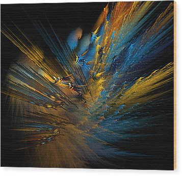 Color Explosion Wood Print by Camille Lopez